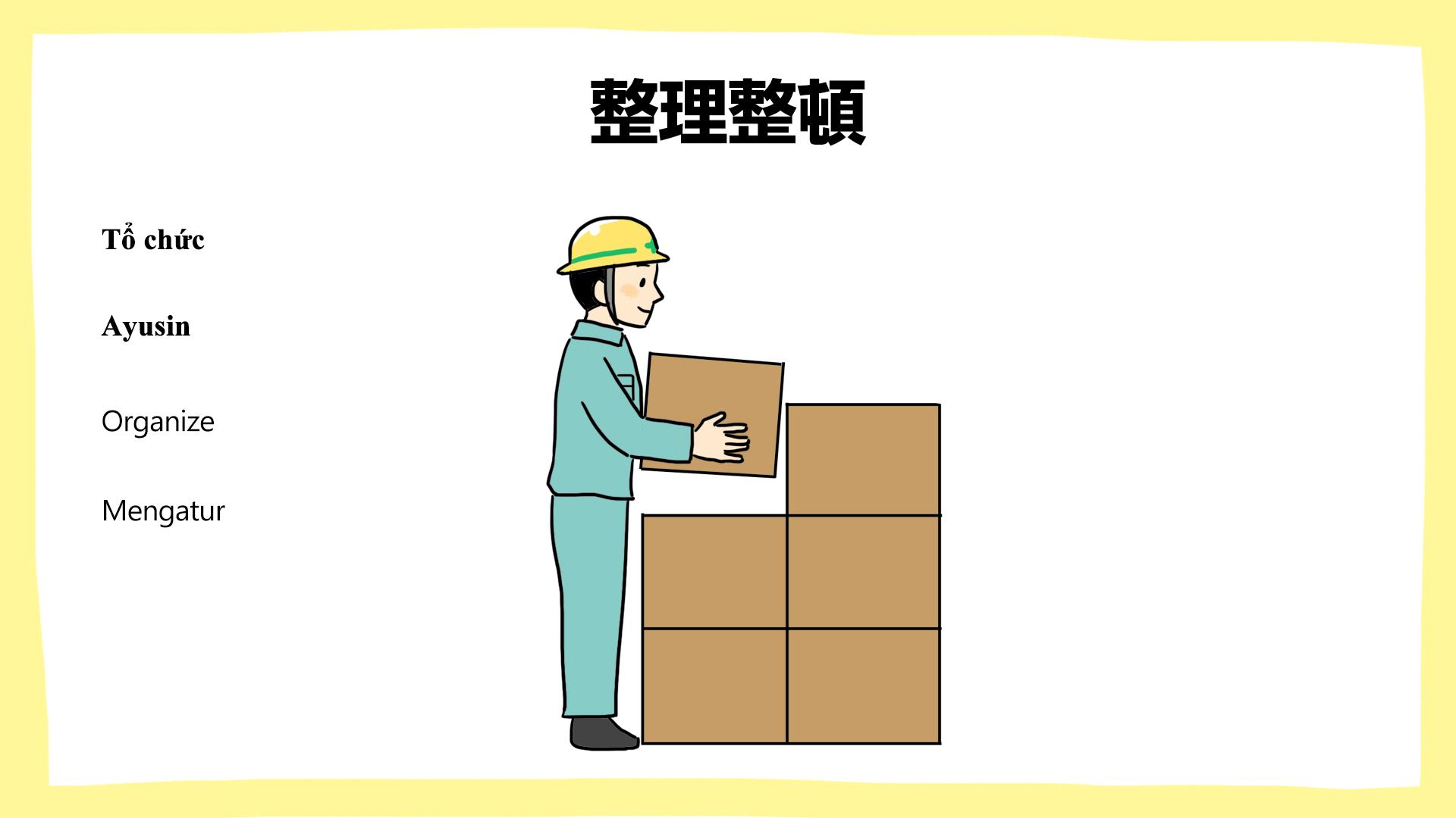 整理整頓_建設現場の安全ポスター
