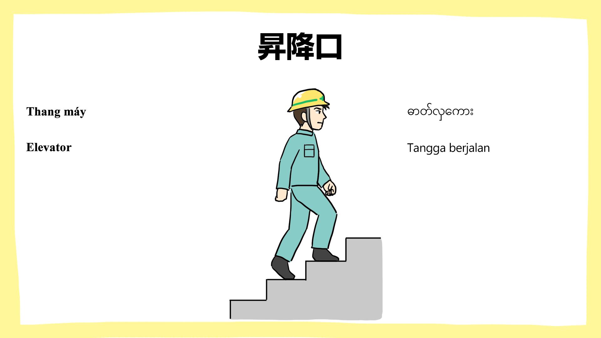 昇降口・建設現場の安全ポスター