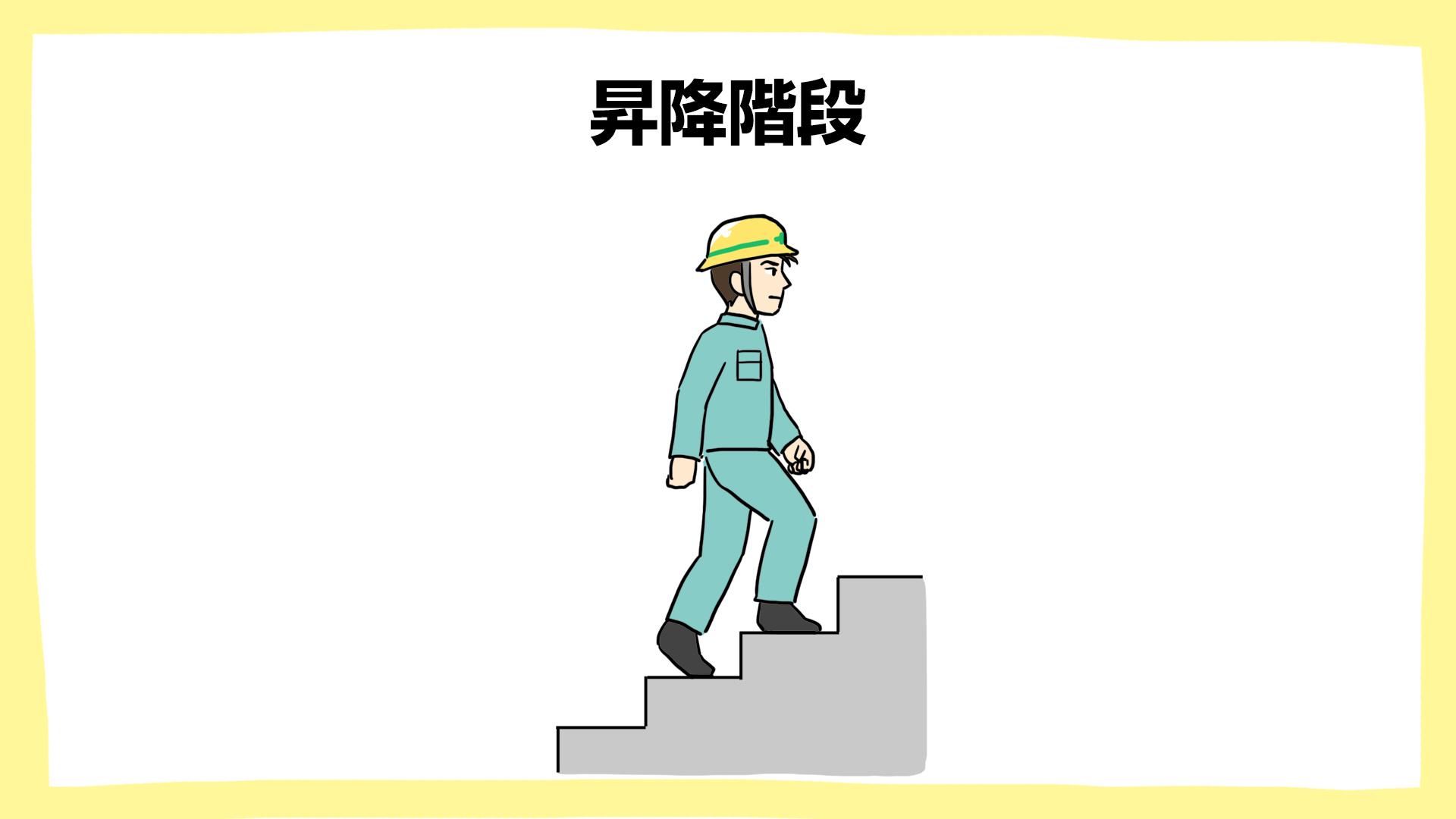 昇降階段・建設現場の安全ポスター