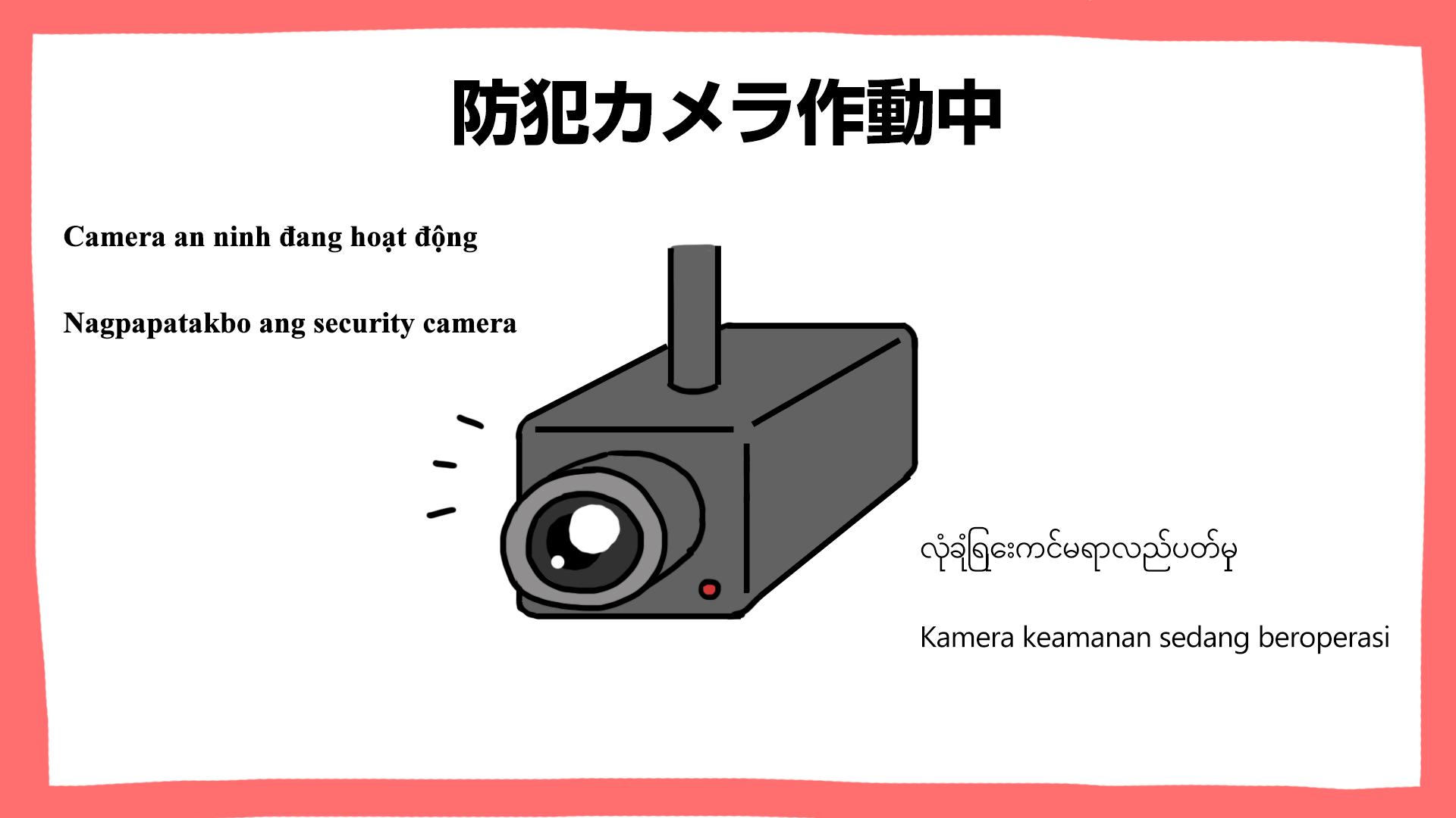 防犯カメラ作動中・建設現場の安全ポスター