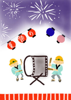 季節イベントポスター お祭り