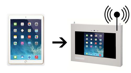 iPadの画面を大画面のサイネージで表示